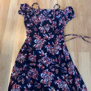 Floral wrap sundress